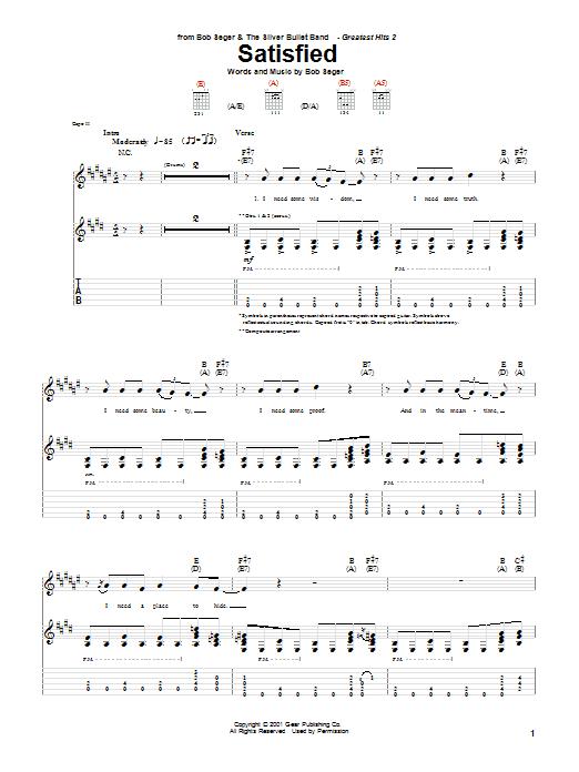 Satisfied (Guitar Tab)