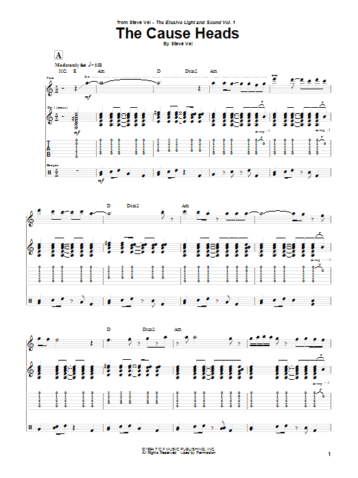 The Cause Heads Sheet Music