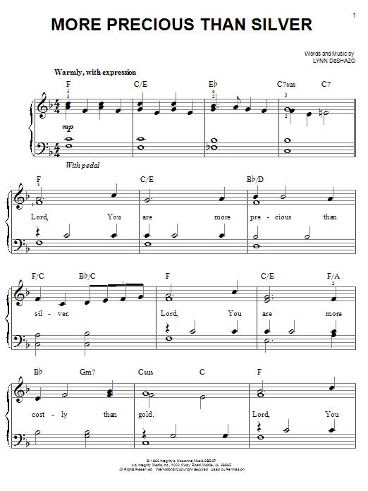 More Precious Than Silver (Easy Piano)