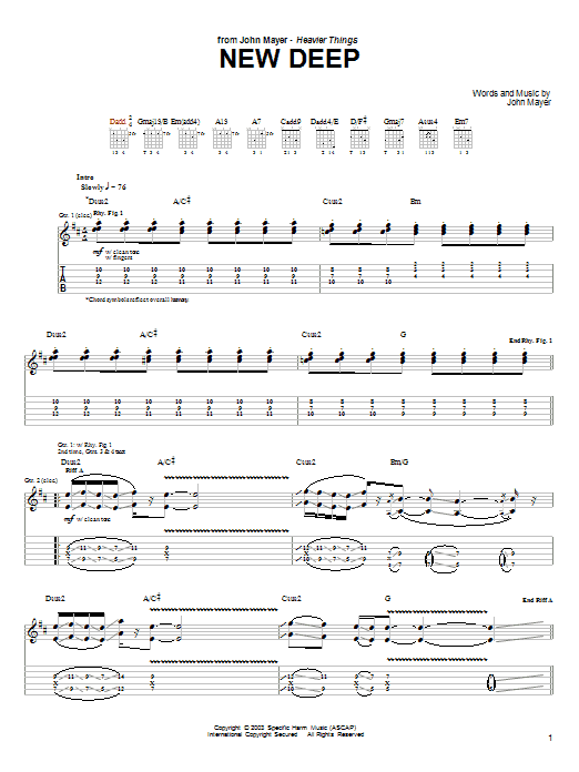 New Deep (Guitar Tab)