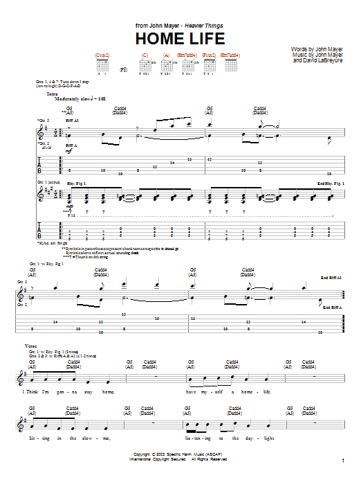 Home Life (Guitar Tab)