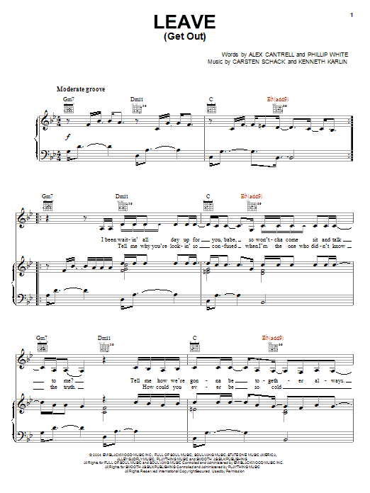 Leave (Get Out) Sheet Music