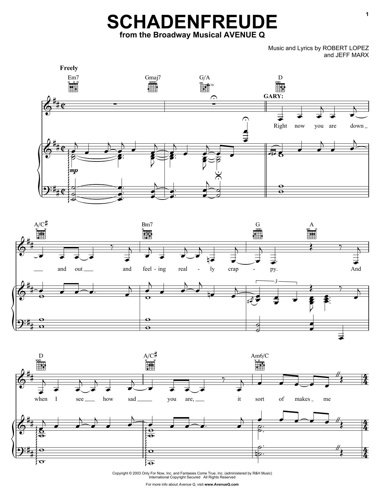Schadenfreude Sheet Music
