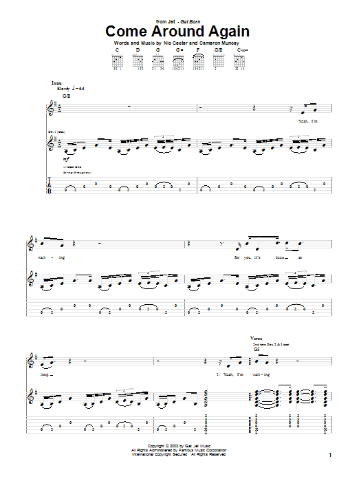 Come Around Again (Guitar Tab)
