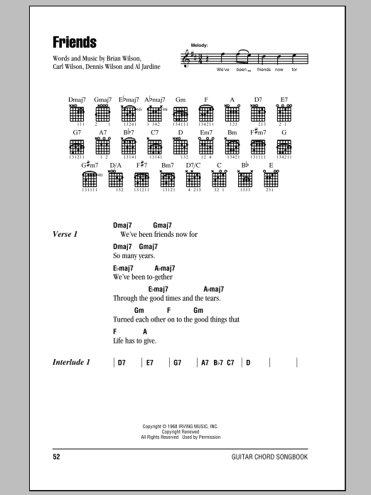 Friends Sheet Music
