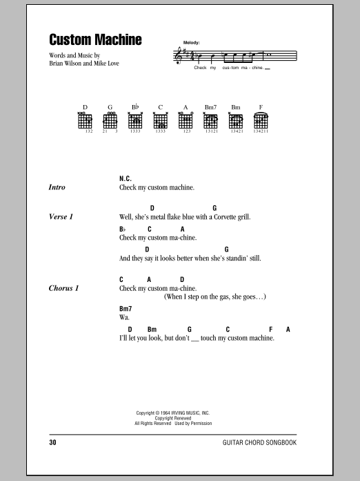 Custom Machine (Guitar Chords/Lyrics)