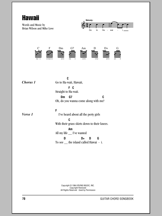 Hawaii Sheet Music