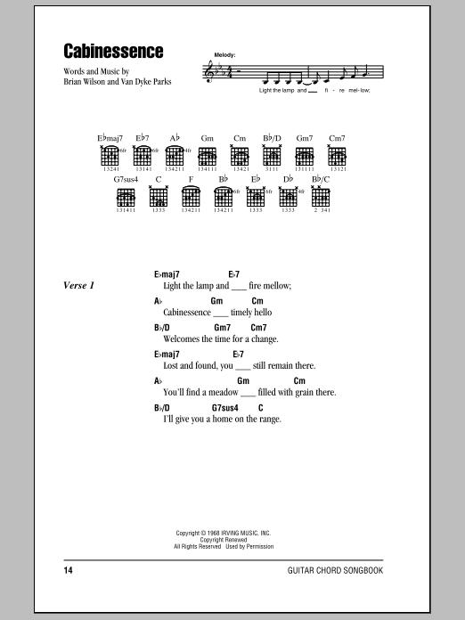 Cabinessence Sheet Music