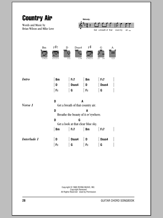 Country Air Sheet Music