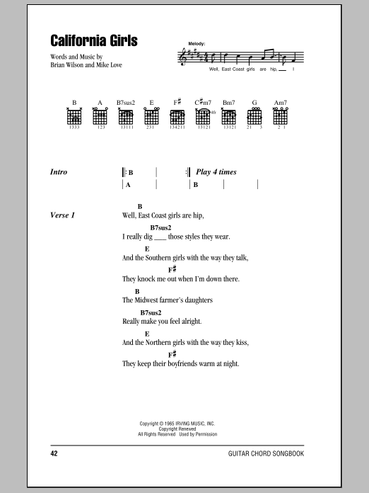 California Girls Sheet Music
