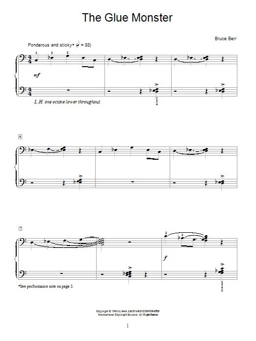 The Glue Monster Sheet Music