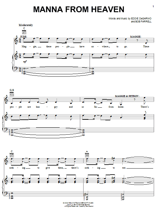 Manna From Heaven (Piano, Vocal & Guitar (Right-Hand Melody))
