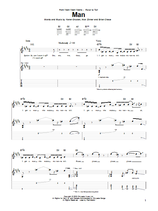 Man Sheet Music