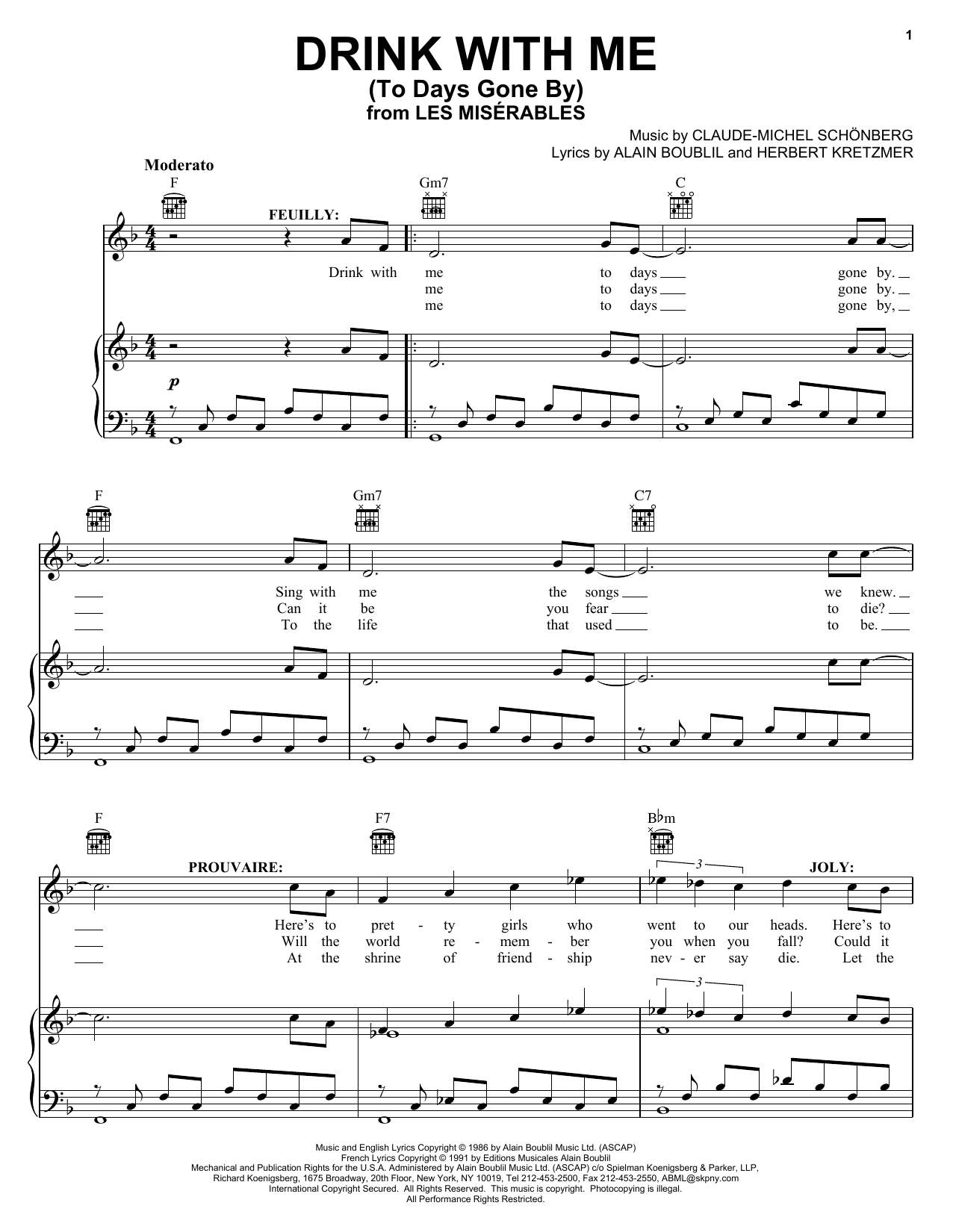 Drink With Me (To Days Gone By) Sheet Music