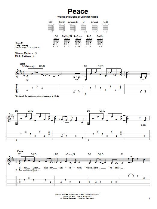 Peace (Easy Guitar Tab)
