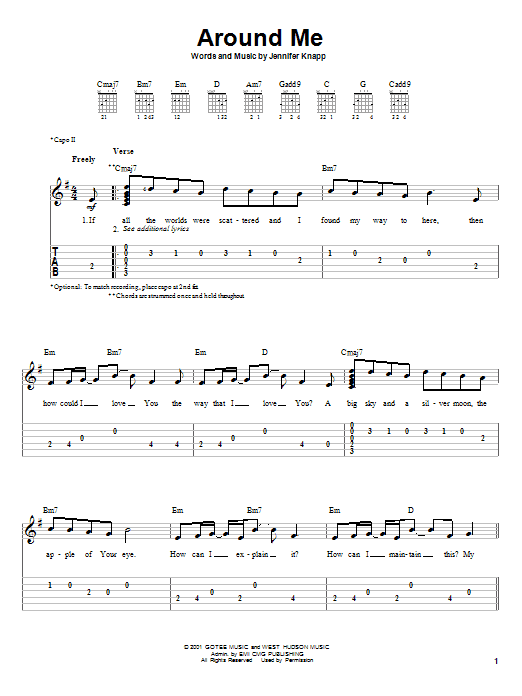 Around Me (Easy Guitar Tab)