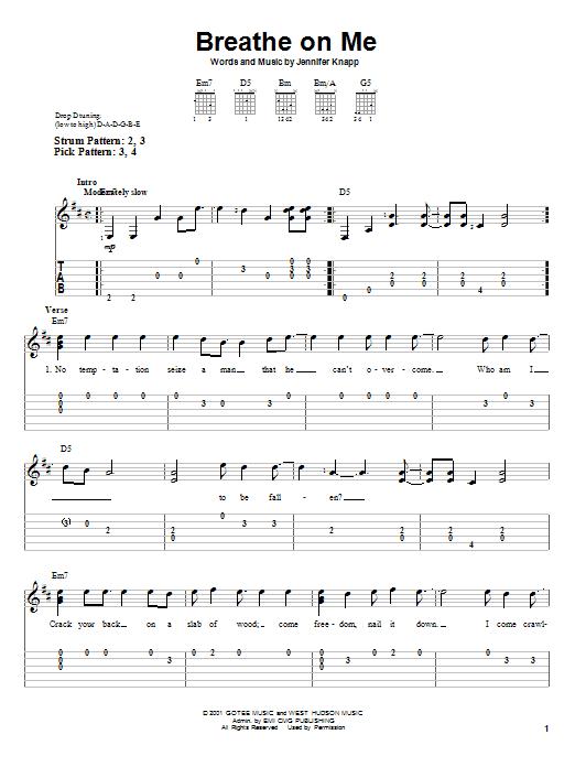 Breathe On Me (Easy Guitar Tab)
