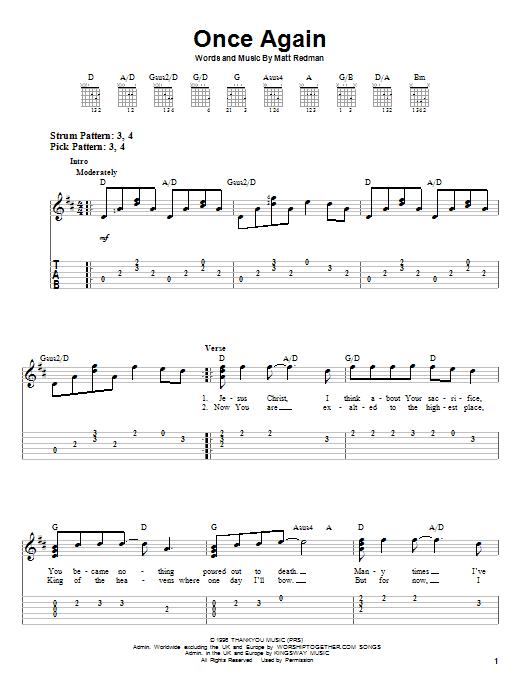 Once Again (Easy Guitar Tab)