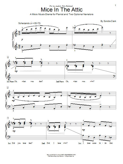 Mice In The Attic Sheet Music