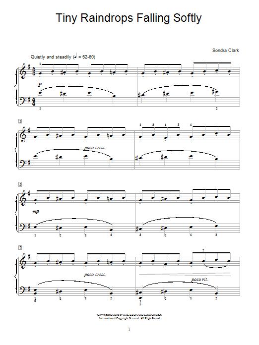 Partition piano Tiny Raindrops Falling Softly de Sondra Clark - Autre