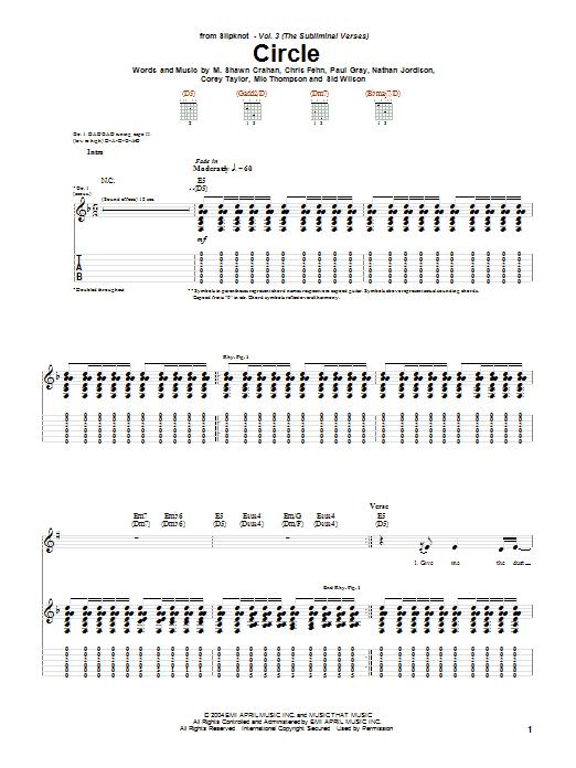 Circle Sheet Music