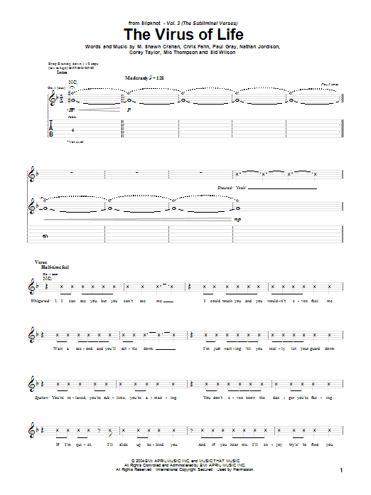 The Virus Of Life Sheet Music