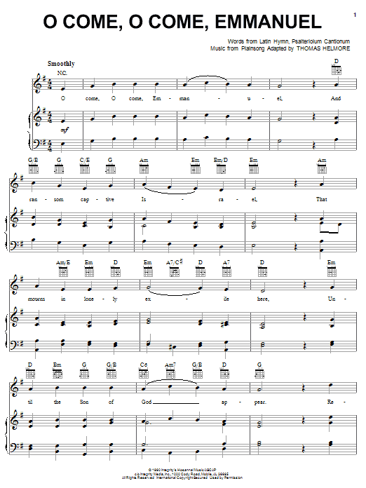 O Come, O Come Emmanuel | Sheet Music Direct