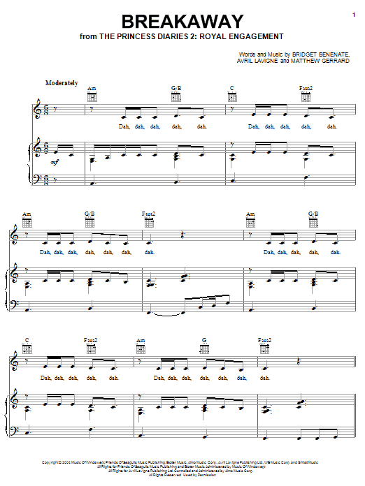 Breakaway Chords by Kelly Clarkson | Songsterr Tabs with ...