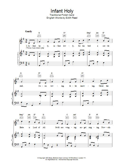 Infant Holy Sheet Music