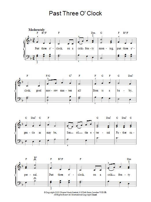 Past Three O'Clock Sheet Music