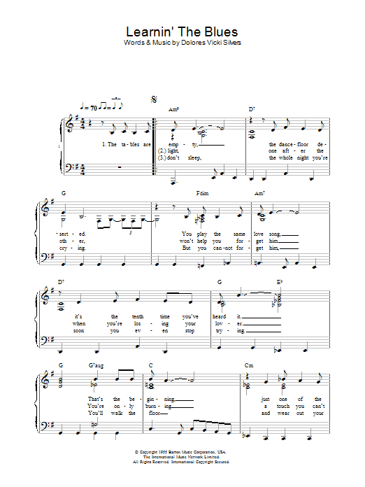 Learnin' The Blues (Piano Solo)