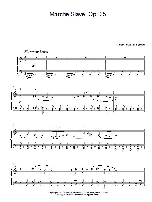 Marche Slave, Op. 35 (Piano Solo)