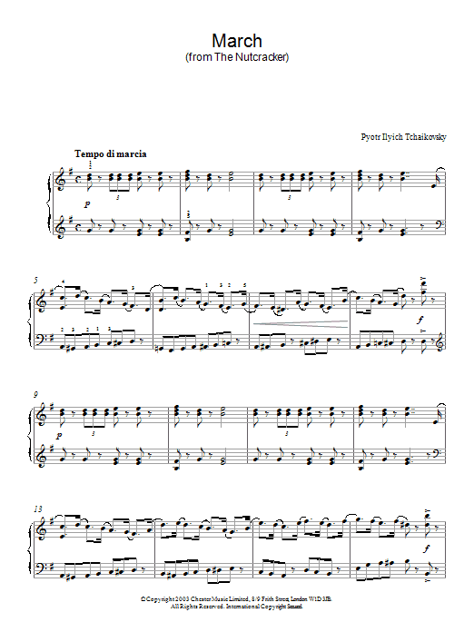 March Of The Toys From The Nutcracker Suite By Pyotr Ilyich Tchaikovsky Alto Sax Solo Digital Sheet Music