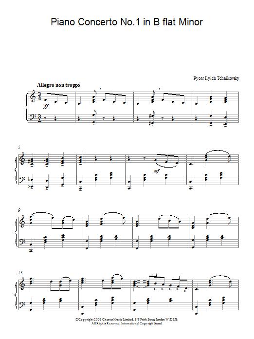 Piano Concerto No. 1 In Bb Minor (Piano Solo)