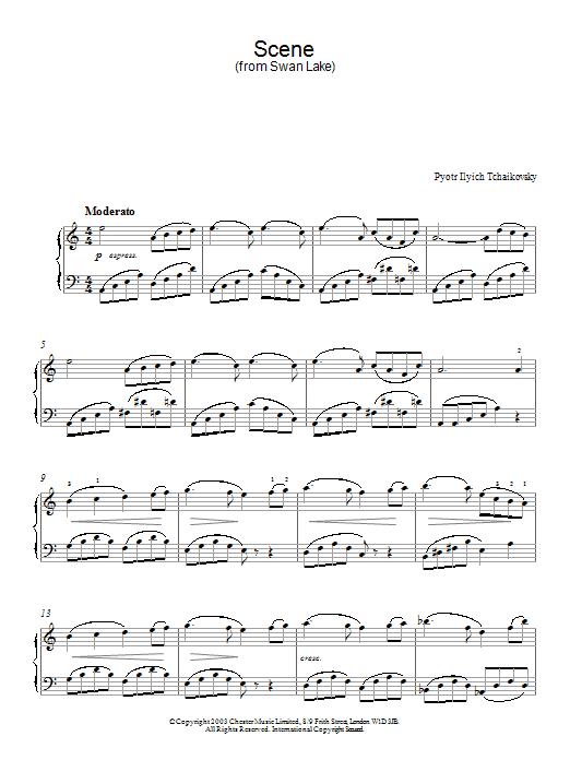 Swan Lake, Op. 20 (Scene) (Piano Solo)