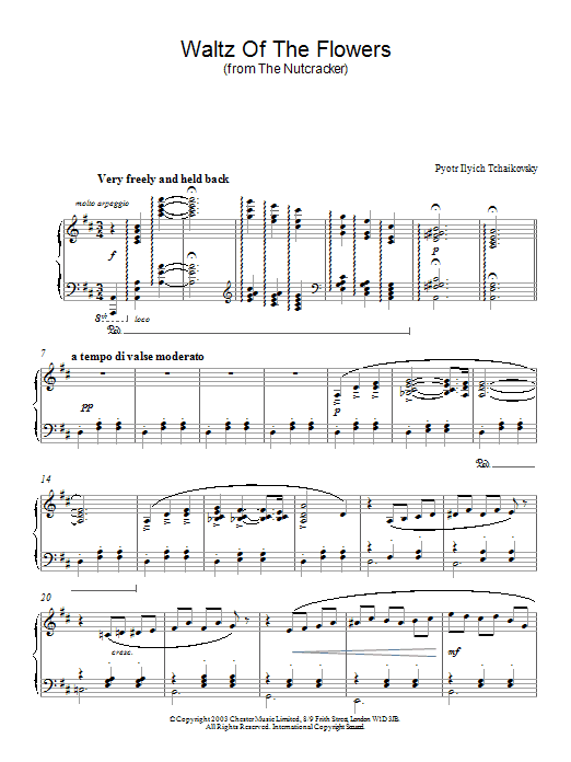 Waltz Of The Flowers (Piano Solo)