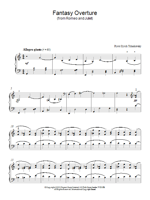Fantasy Overture (from Romeo And Juliet) Sheet Music