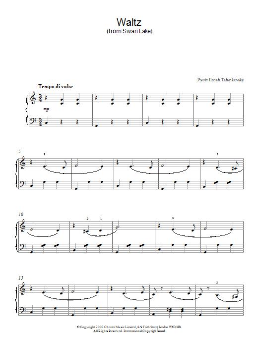 Swan Lake, Op. 20 (Waltz) (Piano Solo)