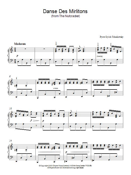Danse Des Mirlitons (from The Nutcracker) Sheet Music