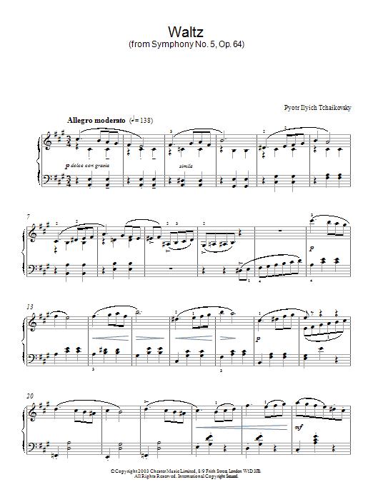 Waltz (from Symphony No. 5, Op. 64) Sheet Music