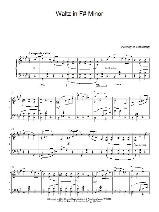 Waltz in F# Minor (Piano Solo)