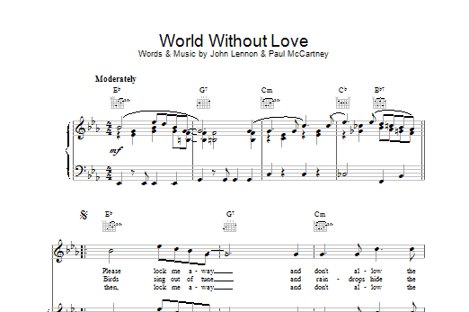 World Without Love Sheet Music