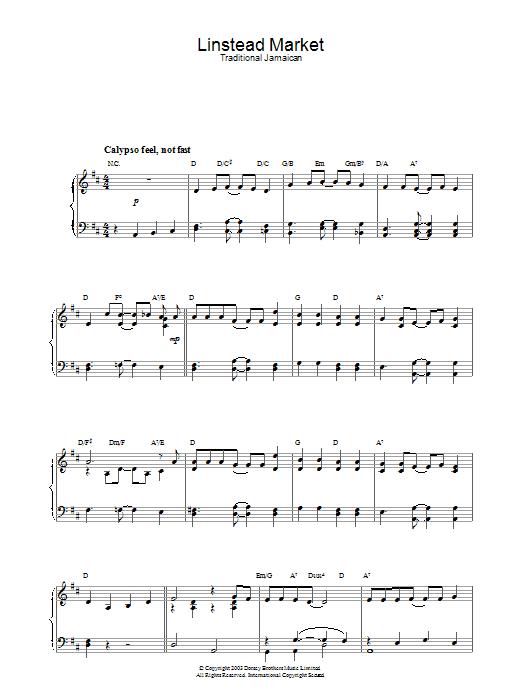Linstead Market Sheet Music