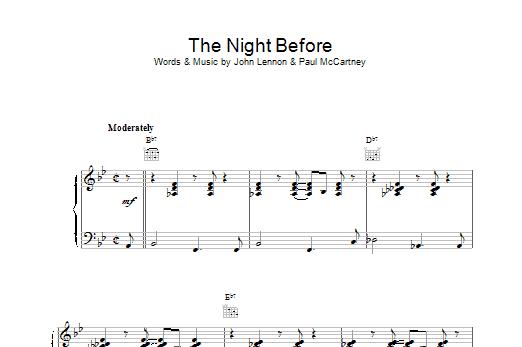 The Night Before Sheet Music