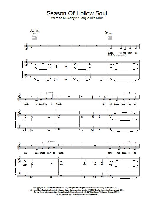Season of Hollow Soul Sheet Music