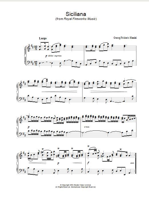 Siciliana Sheet Music