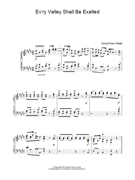 Ev'ry Valley Shall Be Exalted (Piano Solo)