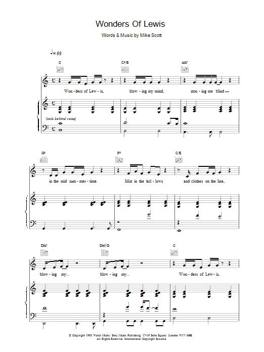Wonders Of Lewis Sheet Music