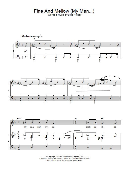 Fine And Mellow (My Man...) Sheet Music