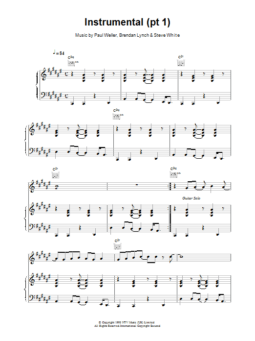 Instrumental (pt1) Sheet Music